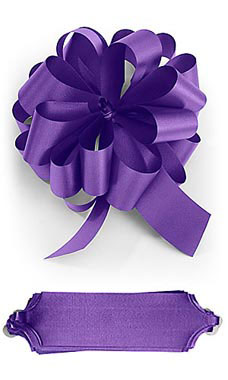 Purple 5½ inch Pull Bows