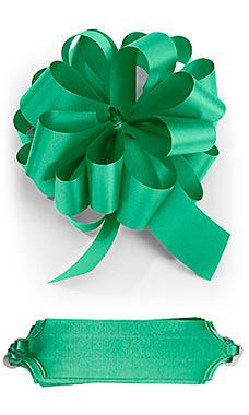 Emerald 5½ inch Green Pull Bows