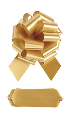 "Gold 8"" Pull Bows"
