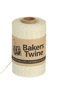 Lemon & White Bakers Twine