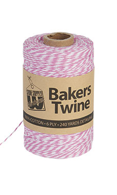 Fuchsia & White Bakers Twine