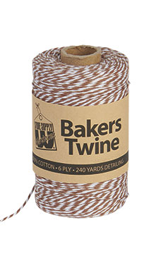 Brown & White Bakers Twine