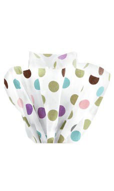 Boutique 20 x 30 inch Playful Polka Dots Tissue Paper
