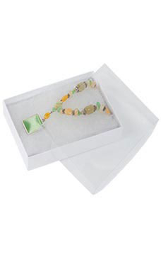 "White Vu-Top Cotton-Filled Box 5¼"" x 3¾"" x ⅞"""