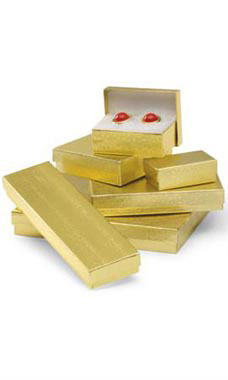 Gold Embossed Cotton-Filled Jewelry Box Assortment