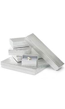 Silver Embossed Cotton-Filled Jewelry Box Assortment - Case of 75