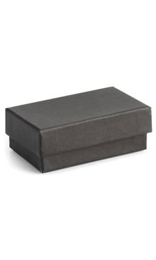 2 ½  x 1 ½  x ⅞ inch Cotton Filled Black Jewelry Boxes