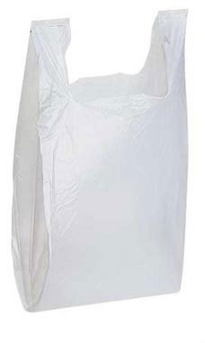 Medium White Plastic T-Shirt Bags - Case of 1,000