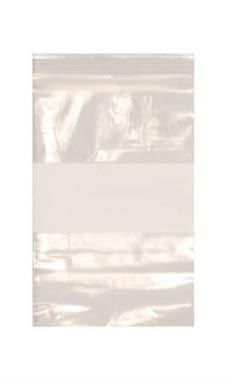 Resealable 4 x 6 inch Clear Plastic Bags With White Black - Case of 500
