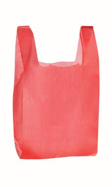 Medium Red Plastic T-Shirt Bags - Case of 1,000