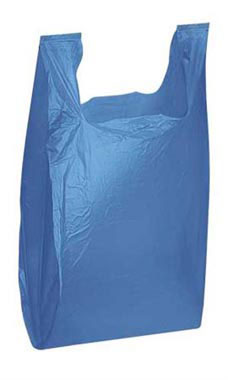 Medium Blue Plastic T-Shirt Bags - Case of 1,000