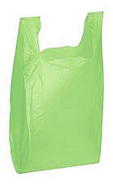 Medium Lime Green Plastic T-Shirt Bags - Case of 1,000