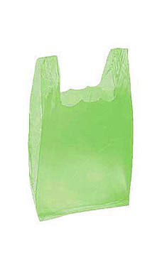 Small Lime Green Plastic T-Shirt Bags - Case of 2,000