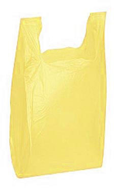 Yellow Wholesale Plastic T-Shirt Shopping Bags - Medium | Store Supply