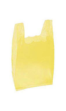 yellow wholesale plastic t shirt shopping bags small
