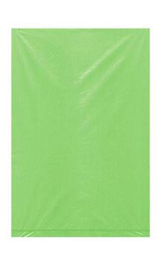 Extra Small High Density Lime Green Plastic Merchandise Bags - Case of 1,000
