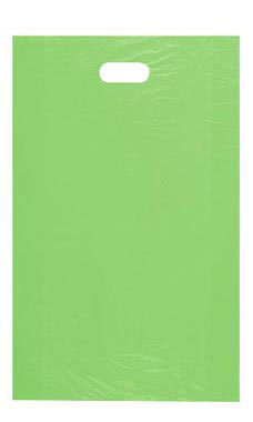 Large High Density Lime Green Plastic Merchandise Bags - Case of 1,000