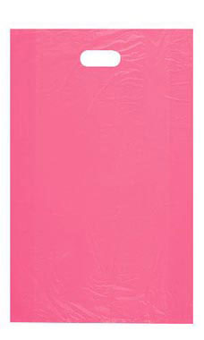 Large High Density Pink Plastic Merchandise Bags - Case of 1,000