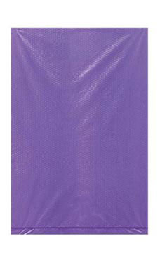 Extra Small High Density Purple Plastic Merchandise Bags - Case of 1,000