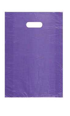 Medium High Density Purple Plastic Merchandise Bags - Case of 1,000