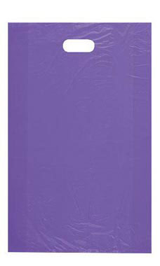 Large High Density Purple Plastic Merchandise Bags - Case of 1,000