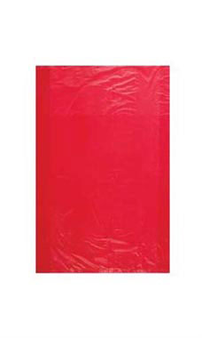 Extra Small High Density Red Plastic Merchandise Bags - Case of 1,000