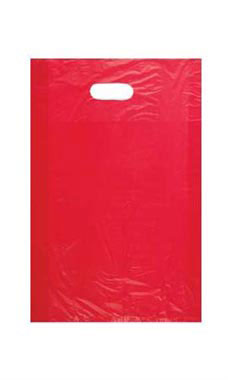 Medium High Density Red Plastic Bags - Case of 1,000