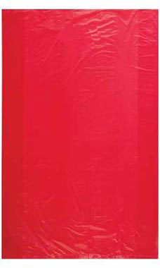 Jumbo High Density Red Plastic Bags - Case of 500