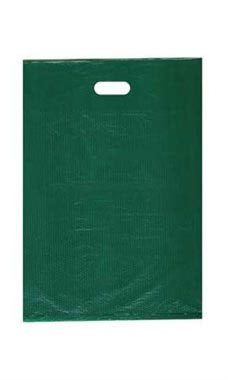 Medium High Density Green Plastic Merchandise Bags - Case of 1,000