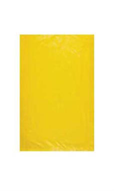 Small High Density Yellow Plastic Merchandise Bags - Case of 1,000