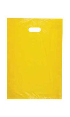 Medium High Density Yellow Plastic Merchandise Bags - Case of 1,000