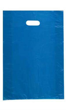 Large High Density Blue Plastic Merchandise Bags - Case of 1,000