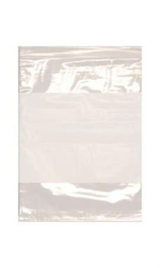 Resealable 9 x 12 inch Clear Plastic Bags With White Block - Case of 100