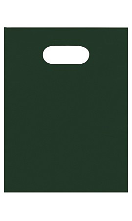 Small Low Density Dark Green Merchandise Bags - Case of 1,000