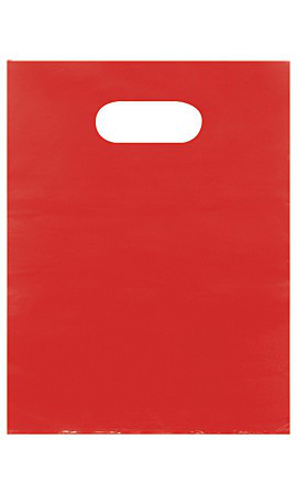 Small Low Density Red Merchandise Bags - Case of 1,000