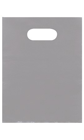 Small Low Density Gray Merchandise Bags - Case of 1,000