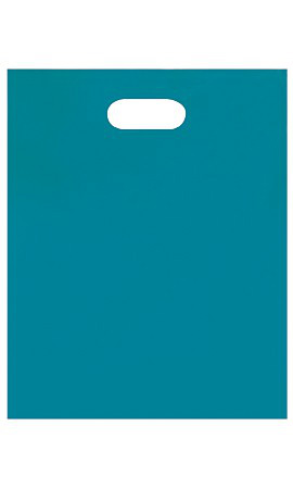 Medium Low Density Teal Merchandise Bags - Case of 1,000