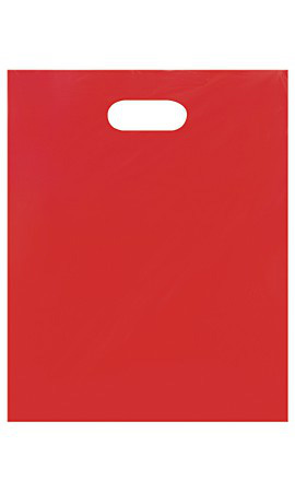 Medium Low Density Red Merchandise Bags - Case of 1,000