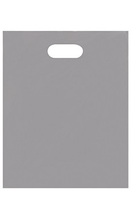 Medium Low Density Gray Merchandise Bags - Case of 1,000