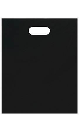 Medium Low Density Black Merchandise Bags - Case of 1,000