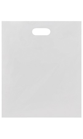 Large Low Density White Merchandise Bags - Case of 500
