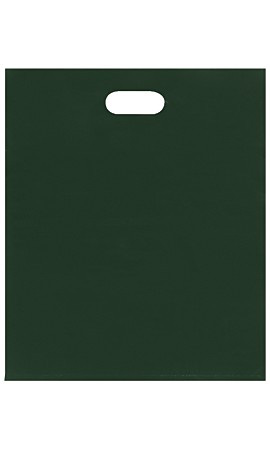 Large Low Density Dark Green Merchandise Bags - Case of 500