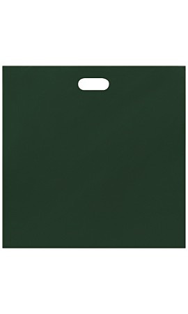 Jumbo Low Density Dark Green Merchandise Bags - Case of 500