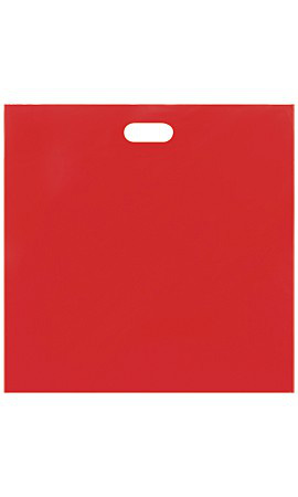 Jumbo Low Density Red Merchandise Bags - Case of 500