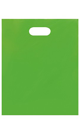 Medium Low Density Clearly Lime Merchandise Bags - Case of 1,000