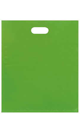 Large Low Density Clearly Lime Merchandise Bags - Case of 500