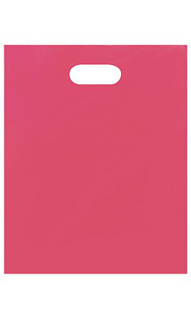 Medium Low Density Pink Merchandise Bags - Case of 1,000