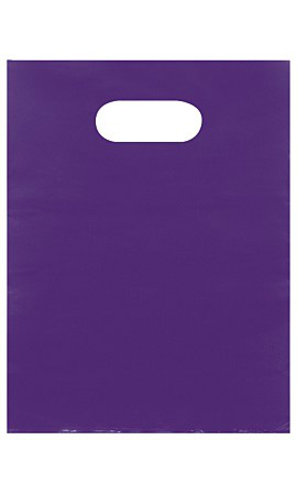 Small Low Density Purple Merchandise Bags - Case of 1,000