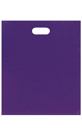 Large Low Density Purple Merchandise Bags - Case of 500