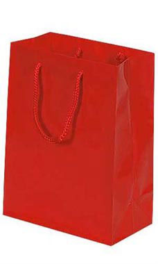 Small Glossy Red Euro Tote Bags - Case of 100
